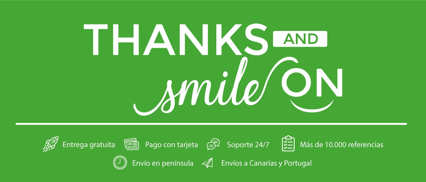 thanks and smile on