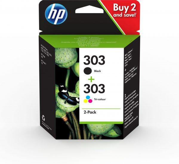 hp 303 tinta pack bk tricolor