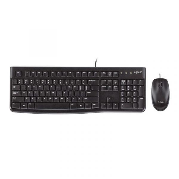 teclado y raton logitech mk120 negro