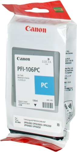 canon pfi106pc tinta photo cian