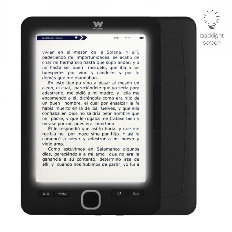 woxter scriba 195 paperlight black libro electronico ebook 6